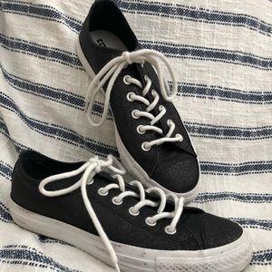 Sparkly black converse